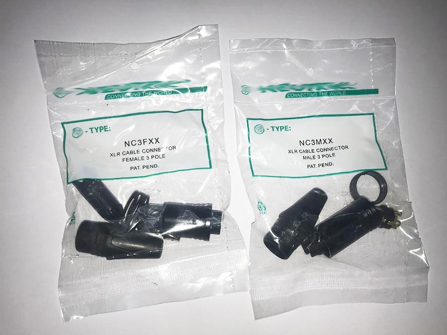 2PCS/lot Original FOR NEUTRIK Connector 1PCS NC3MXX & 1PCS NC3FXX Male Et Femelle Un Ensemble 3 Broches XLR Connecteur