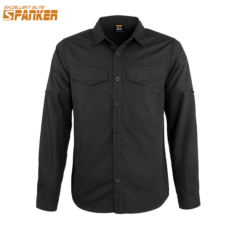 EXCELLENT ELITE SPANKER Outdoor Men's Army Cargo Military Shirts Quick Drying Sport Long Sleeve Shirt Tactical Male Thin Coat men military tactical outdoor shirts 100% cotton breathable long sleeve shirt army multi pockets swat shooting urban sports