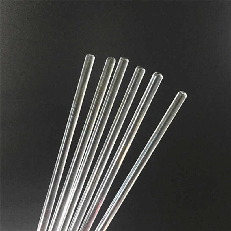 Herramienta de palillos de labios de vidrio de 15CM con varilla de agitación de cabeza redonda de cristal transparente p13