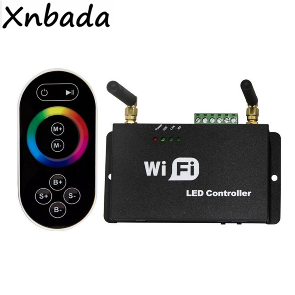WF100 rvb Wifi Led de contrôle avec télécommande Led Iphone Android téléphone Mobile Wifi variateur de couleur réglage de la température