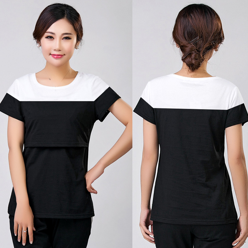 Summer Maternity Nursing Top Cotton Mothers Breast Feeding T-shirt Pregnancy Wear Tees Clothes Pregnant Clothing Hot Selling ladies solid long sleeve breast feeding nursing top maternity clothes pregnant women shirt chic solid cotton top clothing