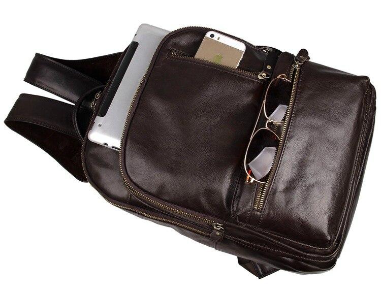 Haute Portable Sacs ''ordinateur Voyage Véritable Vintage Hommes Cuir 14 Chocolat En Femmes Femme À Qualité Nesitu Dos M7313 Homme 6b7Yfgvy