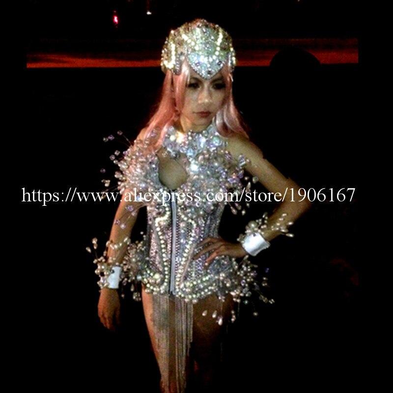 LED leuchtende Licht emittierende sexy Frauen Anzug Kleidung mit - Partyartikel und Dekoration - Foto 3