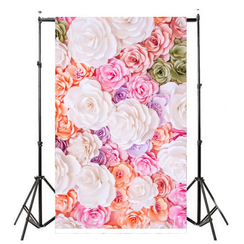 Vanpower Flowers Photography Background,  Valentine Day Cloth Studio Photo Props Backdrop Background 0.9x1.5m for Photo Studio 150x90cm pink valentine s day vinyl studio backdrop love theme photography background cloth photo props wedding party favor