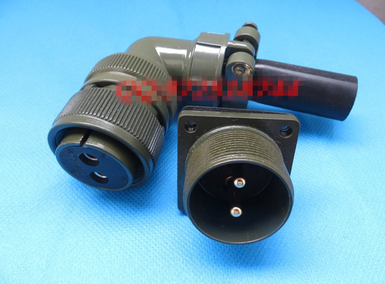все цены на Original new 100% 5015 MS3108A20-23S MS3102A20-23P 2 American Standard aviationplug bent core waterproof connector