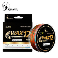 QUIANTU Brand Fishing Line 100M 25LB 140LB Braided Fishing Line 12 Stand Multifilament Fishing PE Line