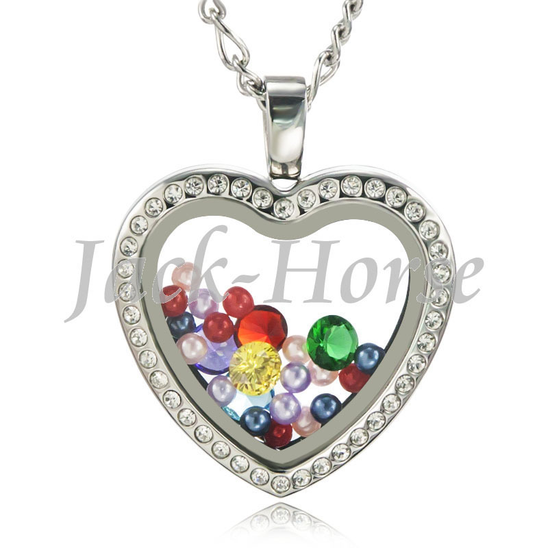 High quality  316L  stainless steel toughened glass heart  living - Fashion Jewelry