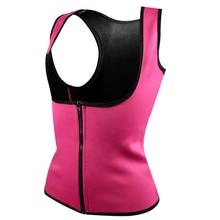 S-6XL Women Hot Neoprene Body Shapers Slimming Waist Slim Vest Plus Size Black Rose Blue Purple shape tops