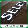 Custom Outdoor & Indoor publicidade à prova d' água iluminado letras letras frontlit acrílico aço inoxidável fonte