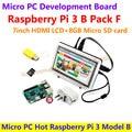 Micro PC Горячие Raspberry Pi 3 Модель B с 7 hdmi-дюймовый ЖК-+ 8 ГБ Карта Micro Sd + Двухцветный чехол + Адаптер Питания Raspberry Pi 3 Pack = F