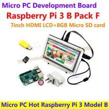 Micro PC Heißer Raspberry Pi 3 Modell B mit 7 zoll HDMI LCD + 8 GB micro sd karte + bicolor case + netzteil = raspberry pi 3 b packung f