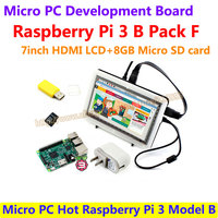 Micro PC Hot Raspberry Pi 3 Model B With 7inch HDMI LCD 8GB Micro SD Card