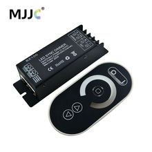 LED Dimmer 12-24V 300W 1 Channel RJ45 Synchronous RF Wireless LED Controller with Touch Remote for Single Color LED Strip Light