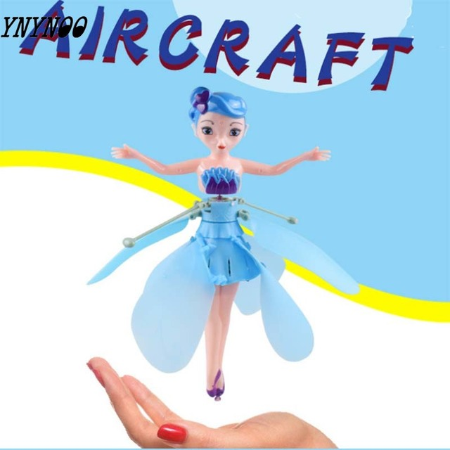Induction Fairy Magical Princess Dolls infrared Light Suspension Flying doll toys mini RC drone Girl