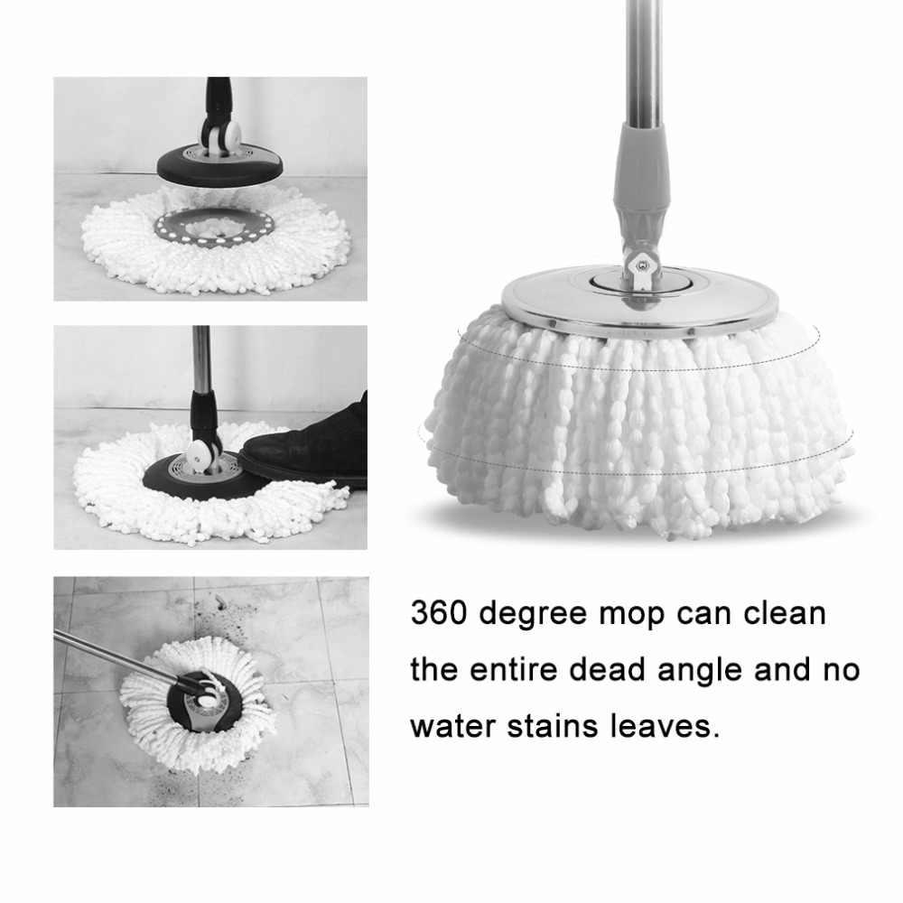 Rumah Tangga Sapu Pel Lantai Microfiber Kepala Magic Penggantian Otomatis Kepala Pel 360 Berputar Cleaning Pad Home Alat Bersih Drop Pengiriman