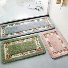 New 80*120cm Home entrance door mat Bedroom bay window Carpet Bathroom foot pad Non-slip mat