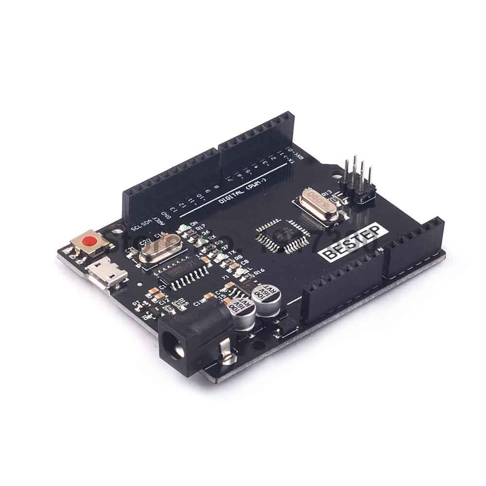 New Product UNO R3 MEGA328P CH340 MicroUSB for Arduino UNO R3 NO USB CABLE open smart uno atmega328p development board for arduino uno r3