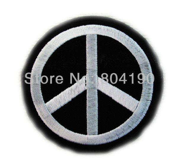 Cnd Peace Anti War Symbol Music Band Embroidered New Iron On And Sew