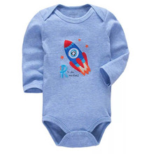 Newborn Bodysuit Babies Baby Boys Girls Clothes Cute Cartoon Print Long Sleeve Infant Bodysuits