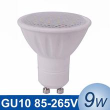 GU10 LED Light 9W SMD5730 LED Light Bulb 110V 220V Lampada LED Spotlight Dimmable Ceramic Spot Light Bright Lighting 6pcs/lot