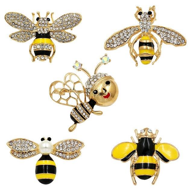 WEIMANJINGDIAN Rhinestone di Cristallo e Smaltato Bee e Hornet Spilla Spilli per le Donne di Modo Accessori Dei Monili di Costume