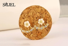 Fashion Jewelry Cute Cherry Blossoms Flower Stud Earrings for Women Several Peach Blossoms Earrings  S129