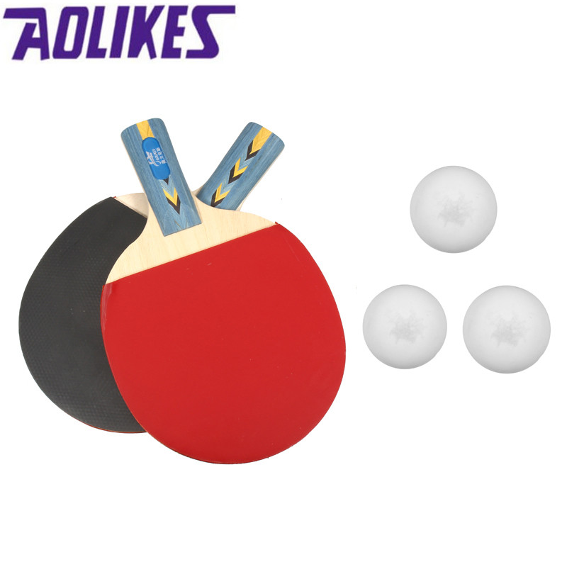 Aolikes Table Tennis Rackers Pingpong Bats Students double Reverse Beginners Racket Wholesale Racquet Sports Stiga