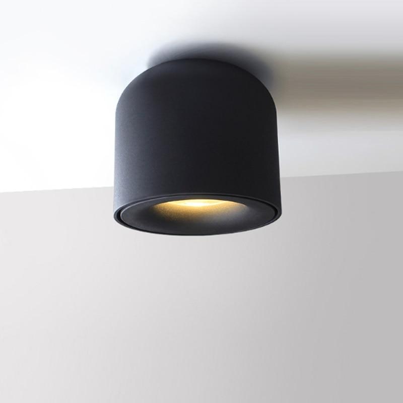 NEW 5W/7W AC85-265V Aluminum LED Spotlight Bedroom Hallway Warm White / White / Natural White Gray Black White