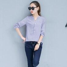 Здесь можно купить   Chemise Femme 2017 Striped tops Korean Clothes Women Blouse Ladies Office Shirts Woman Blouses femme Long Sleeve Blusas Feminina Women
