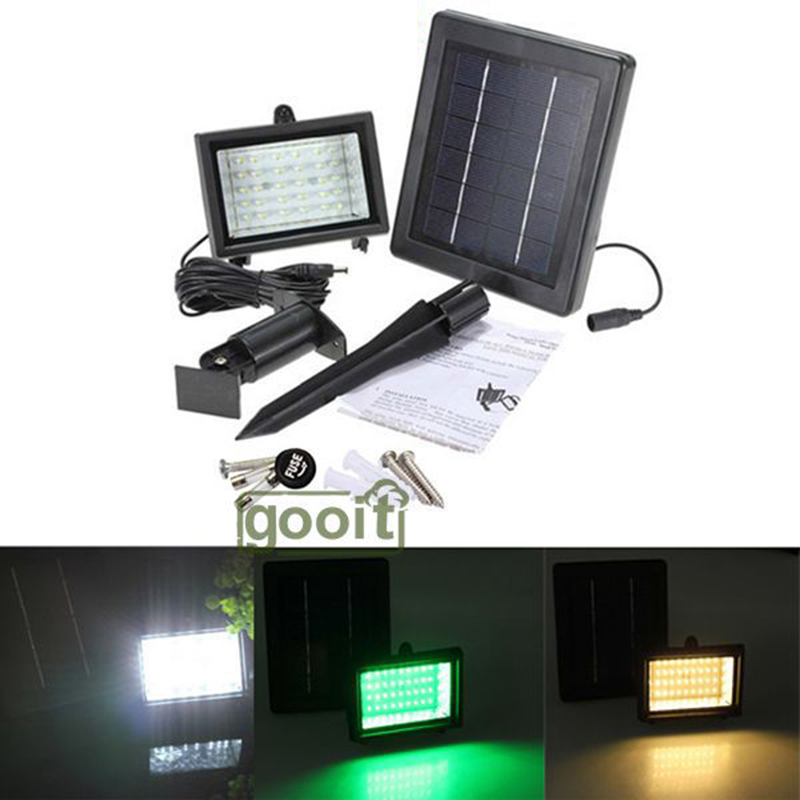 outdoor solar powered flood light 40 led spotlight lamp garden pool lawn garden floodlight for lawn