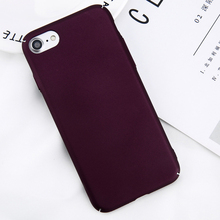 Simple Plain Wine Red Frosted Matte PC Back Cover Cases For iPhone