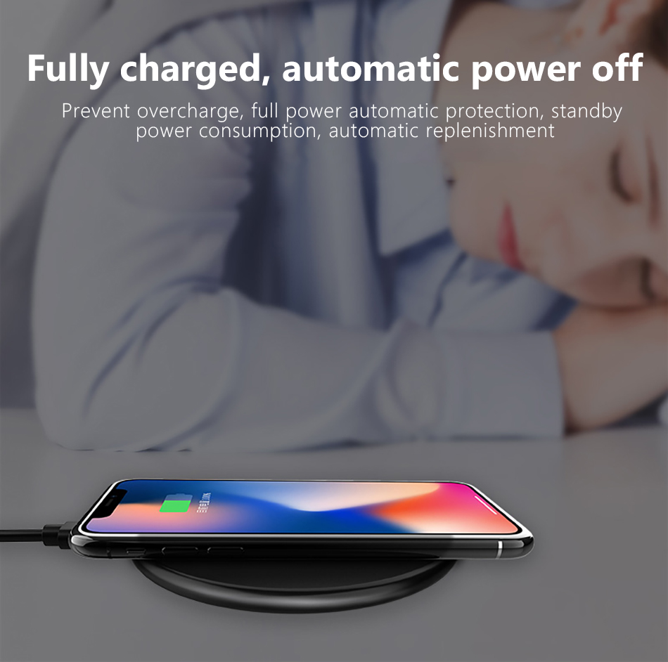 !ACCEZZ Qi Wireless Charging 7.5W 10W For Samsung Galaxy S8 S9 Plus Note 8 Universal Fast Charge For iPhone 8 Plus XS XR Charger (7)