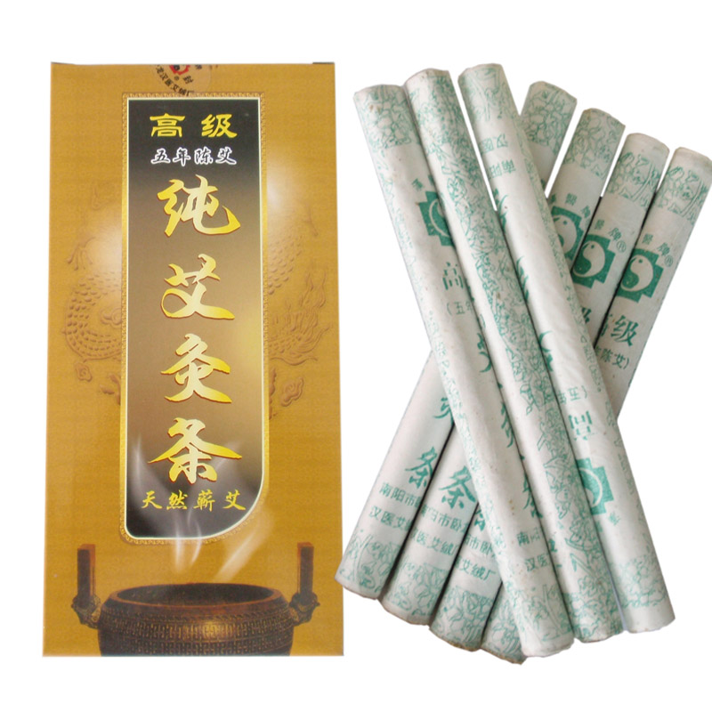 2016 New Arrival 10pcs/Box Five Years Old Moxa Roll Mox Stick Pure Moxa 18x200mm Moxibustion Warm The Meridians For Health Care