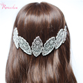 New Silver Plated Beautiful Hollow Leaves Shape High-quality  Bride Tiara Crown WeddingBridal Accessories Hair Jewelry RE187