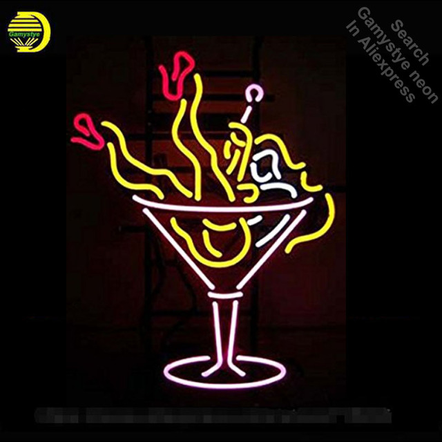 Neon Sign for Cocktail Girl neon bulb Sign Beer pub Neon lights Sign glass Tube Handcraft Iconic Bulbs Super Bright club lamp