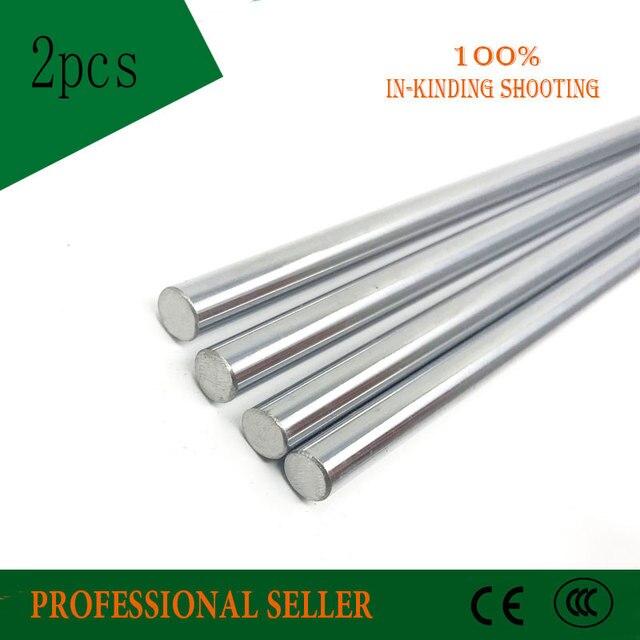 2 uds. De eje lineal para impresora 3d, 10mm, 10x500mm, Riel de revestimiento de cilindro, eje lineal, piezas cnc