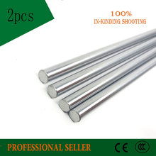 2pcs 10mm 10x500 linear shaft 3d printer 10mm x 500mm Cylinder Liner Rail Linear Shaft axis cnc parts