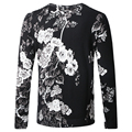 Sweater Men New 2016 Fashion Brand Floral Printed Pullovers Men Casual Round Collar Slim Fit Knitted Mens Sweaters Knitwear 5XL