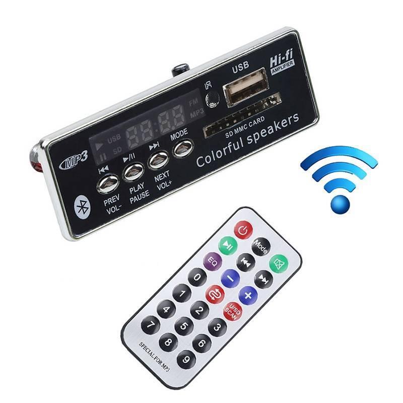 Auto Auto MP3 Player 12 v Bluetooth MP3 WMA Decoder Board Modul IR Fernbedienung USB/SD/Aux Radio für Auto Mp3 Player Bluetooth Voiture