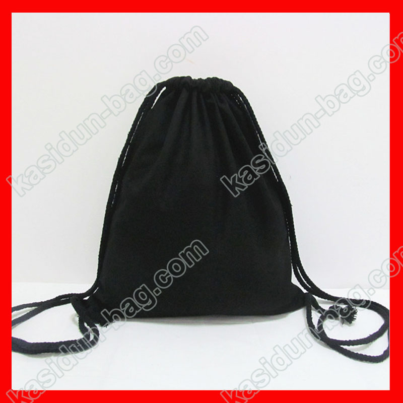 (200pcs/lot) size 30x35cm 12oz black canvas drawstring backpack kids for DIY paiting
