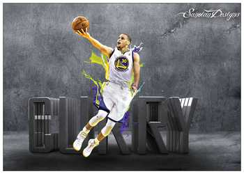 Stephen Curry Basketball Star Art Coated paper Painting Home Room Decor High Quailty printing Wallpaper Modern Decoration 2