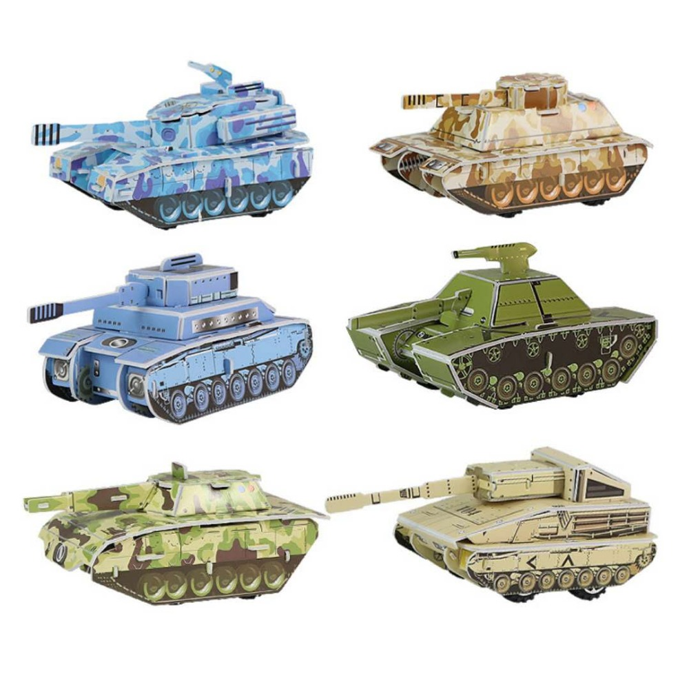 3D tank paper stereoscopic model DIY puzzle kids learn growth game puzzles A gift for a child