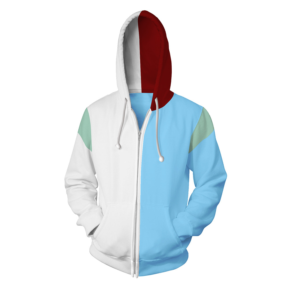 JAYANPOO Japan Anime My Hero academia Todoroki Shoto Cosplay Costumes Sweatshirt zipper Hoodie My Hero Academy Halloween costume