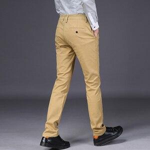 Image 3 - VOMINT 2020 חדש Mens מכנסי קזואל גמישות מכנסיים רגיל ישר חכם עסקים צפצף שחור כחול חאקי גדול גודל 42 44 46