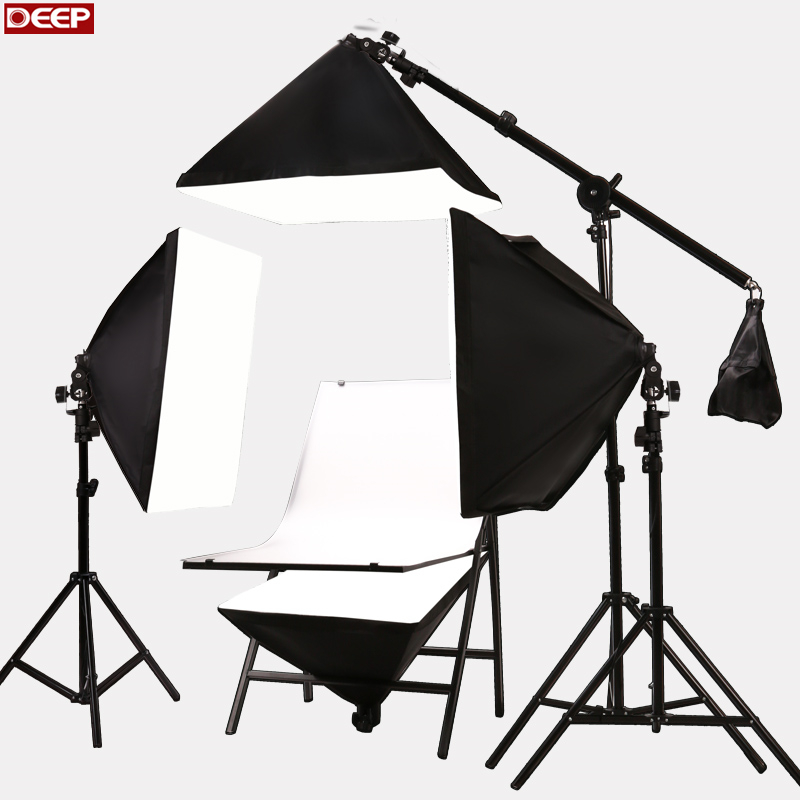 DHL TNT Photo Studio kit Photographic Equipment Photography Table E27 175w bulbs Softbox camera shooting props PVC Backgrounds  portable photo studio 4 photographic backgrounds 1 camera stand 2 halogen lights w carrying bag