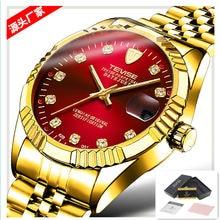 224292494af Novo TEVISE Relógio Automático Dos Homens De Luxo Relógios Mecânicos de Ouro  À Prova D  Água Ocasional Dos Homens de Aço inoxidá.