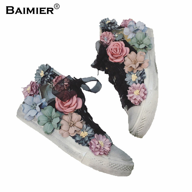 Fashion Flowers Cut Out Dirty Casual Shoes Women Canvas Shoes High Top Beathable Summer Shoes Girls Sneakers Flat Shoes 35~40 комплект из 3 пар носков page 1 page 5 page 4