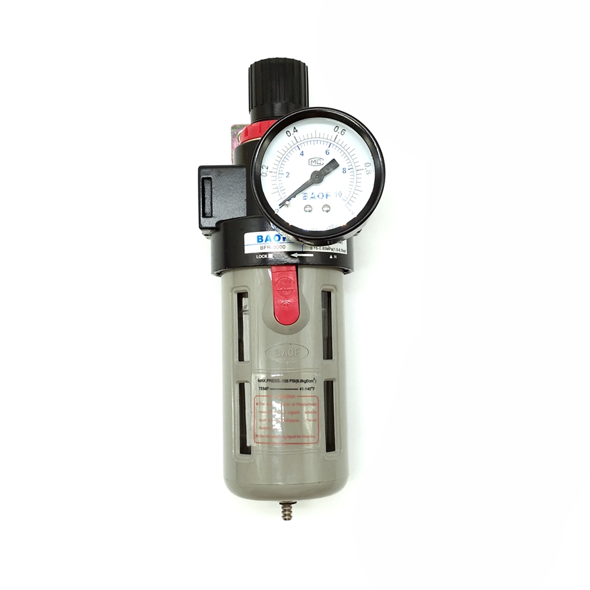 BFR2000 G1/4'' <font><b>BFR3000</b></font> 3/8'' BFR4000 1/2'' Air Filter Pressure Regulator image