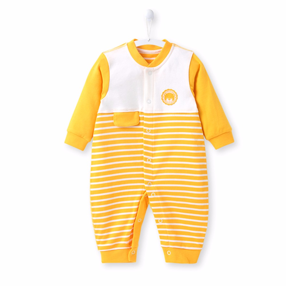 COBROO Newborn Baby Rompers Striped 100% Cotton Long-sleeve 2018 New Winter 0-3 Month Baby Clothing Costume Baby Jumpsuit 150004