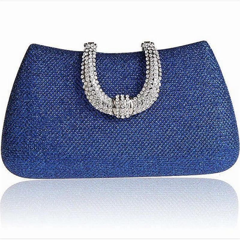 Cheap Price For Women Crystal U Diamond Clasp Clutch Bags Glitter Silver Evening Gold Day Wedding Party Purses Ladies Handbags 958t